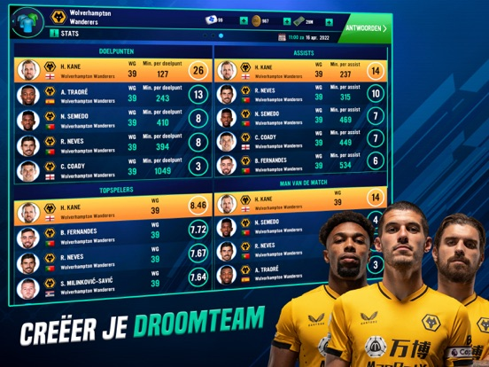 Soccer Manager 2022 iPad app afbeelding 3