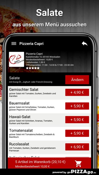 Pizzeria Capri Wiesbaden screenshot 5
