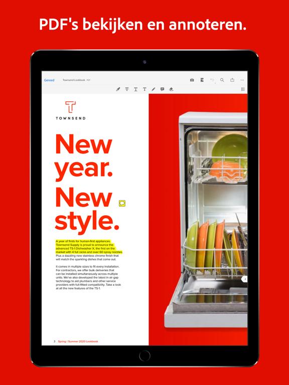 Adobe Acrobat Reader voor PDF iPad app afbeelding 3