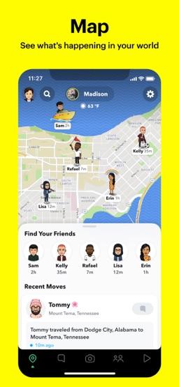 Snapchat app screenshot