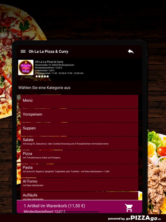 Oh La La Pizza Recklinghausen screenshot 8
