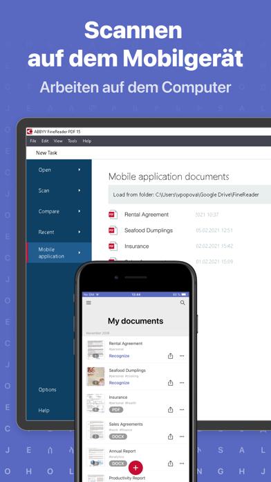 Dokumenten Scanner: FineReaderScreenshot von 8