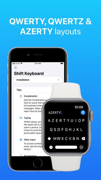 Shift Keyboard for Apple Watch screenshot-5