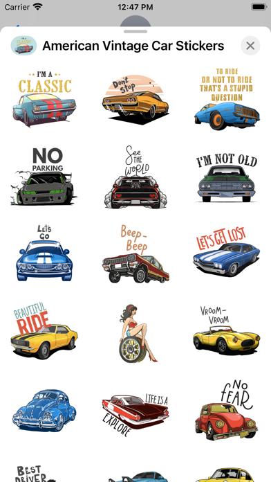 American Vintage Car Stickers screenshot 2