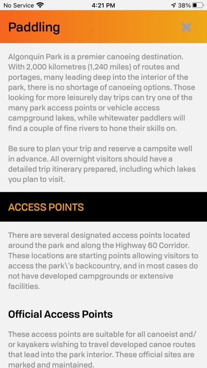 Algonquin Park Adventure Map screenshot-9