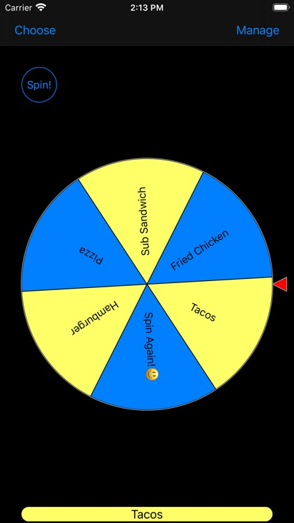 Wheel of Lunchiness