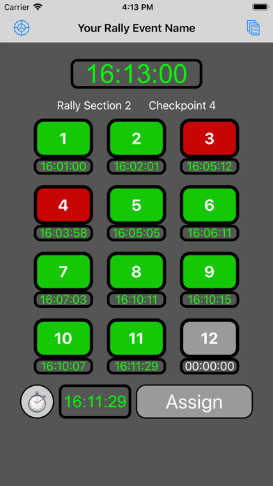 12 Car Rally Timer screenshot 6
