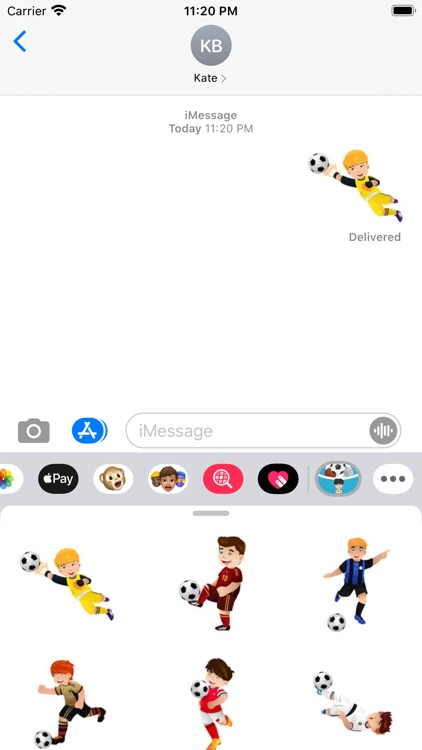 Love football boy Stickers screenshot-3