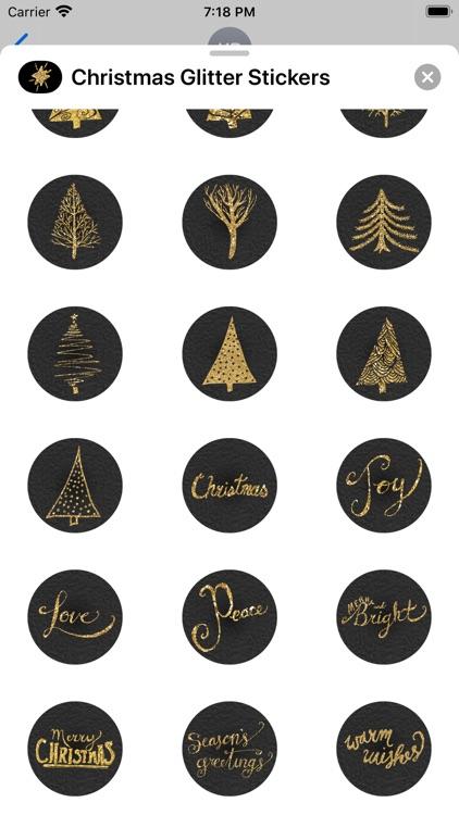 Christmas Glitter Stickers screenshot-3