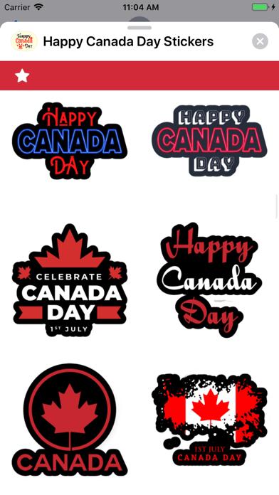 Happy Canada Day Stickers ! screenshot 9