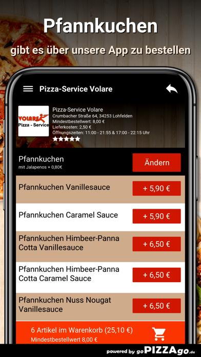 Pizza-Service Volare Lohfelden screenshot 6