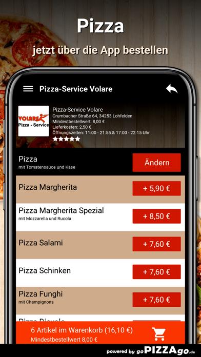 Pizza-Service Volare Lohfelden screenshot 5