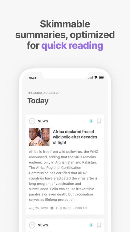Newsdrop - Read News Faster screenshot-0