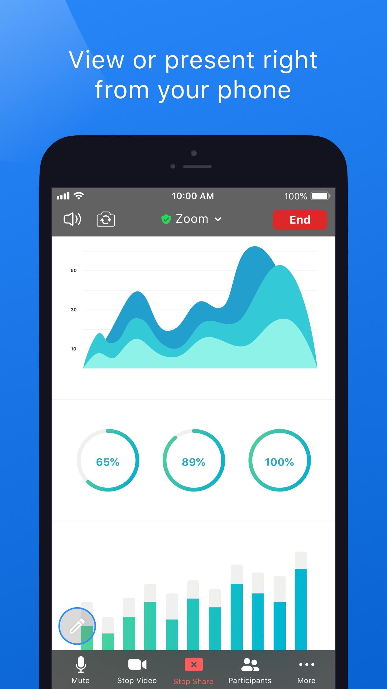 Screenshot do app ZOOM Cloud Meetings