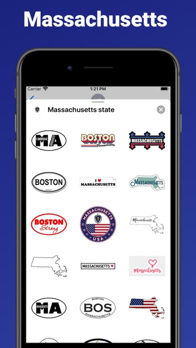 Massachusetts state USA emoji screenshot 1