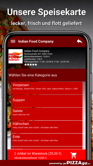 Indian Food Company Köln screenshot 4