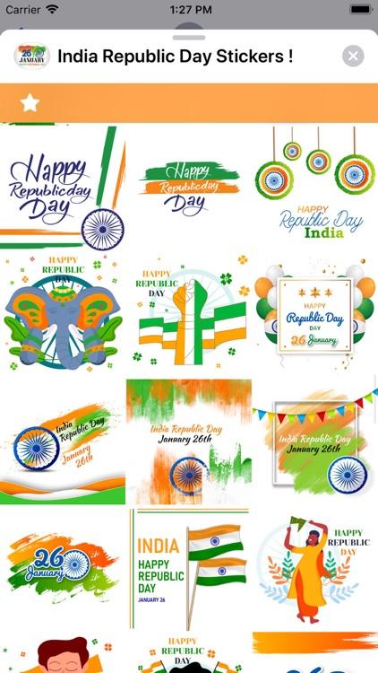 India Republic Day Stickers ! screenshot-3