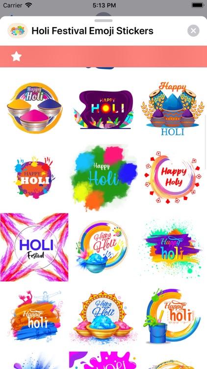 Holi Festival Emoji Stickers screenshot-3
