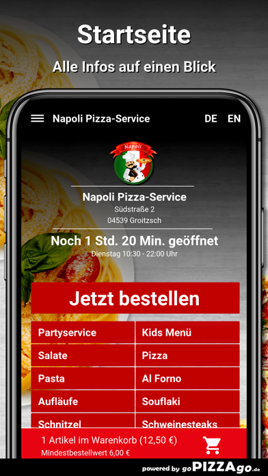 Napoli Pizza-Service Groitzsch screenshot 2