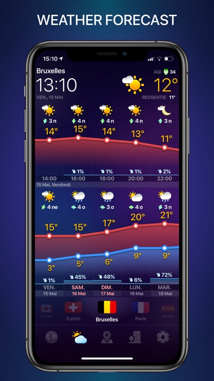 WEATHER NOW daily forecast app