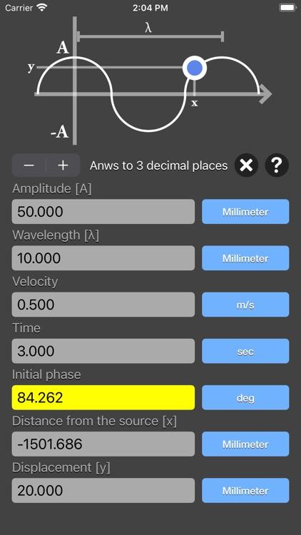 Harmonic Wave Equation Calc screenshot-8