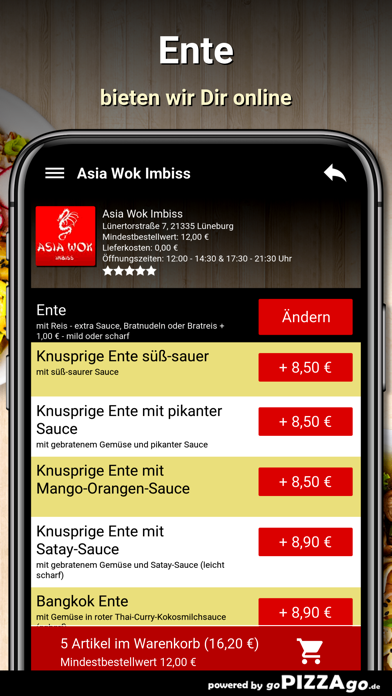 Asia Wok Imbiss Lüneburg screenshot 5