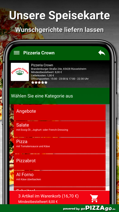 Pizzeria Crown Rüsselsheim screenshot 1