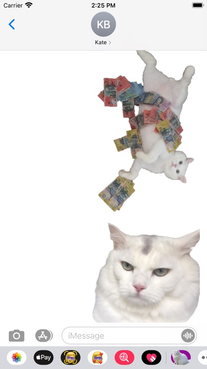White Cat Stickers