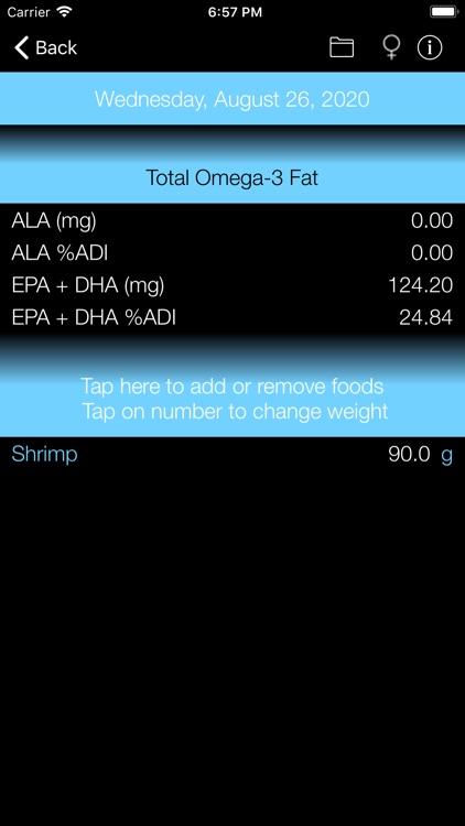 Omega-3 Fat Counter & Tracker screenshot-5