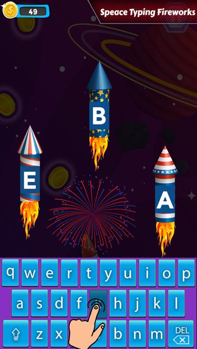 Space Typing:Speed Rocket screenshot 1