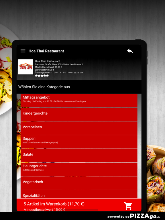 Hoa Thai Restaurant München screenshot 8
