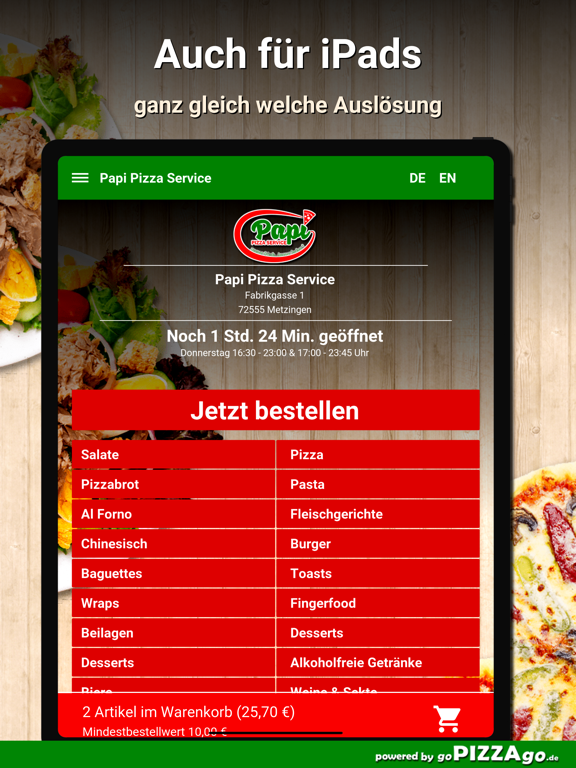Papi Pizza Service Metzingen screenshot 7