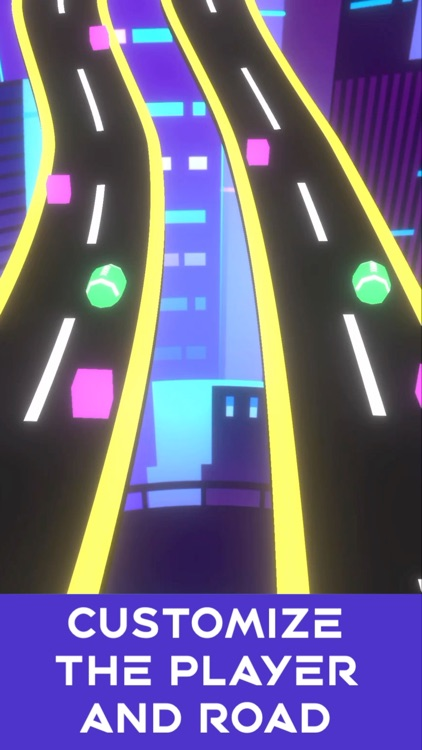 Neon Rush: Color Ball Road Run screenshot-4