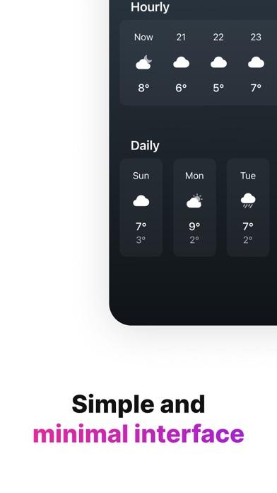 Tiny Weather: Simple forecastsのおすすめ画像3