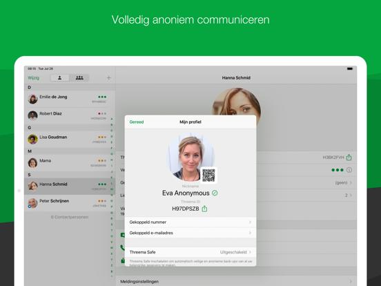 Threema. De veilige messenger iPad app afbeelding 3