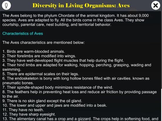 Diversity in Living: Aves screenshot 11