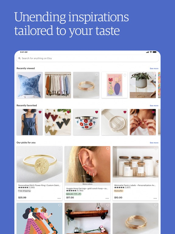 Etsy: Shop Handmade, Vintage & Creative Goods screenshot