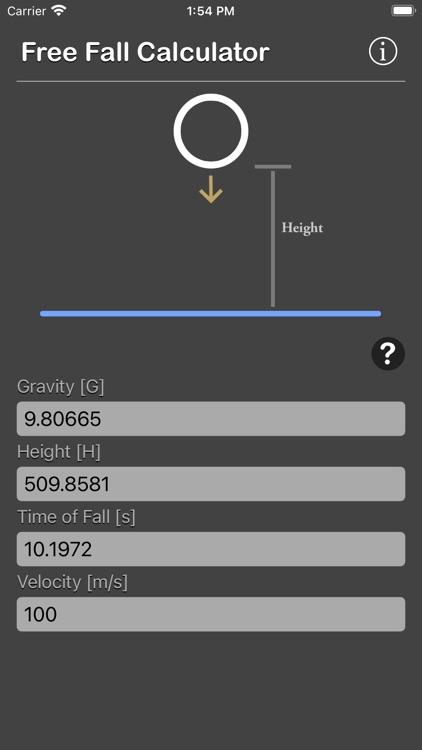 Free Fall Calculator screenshot-7