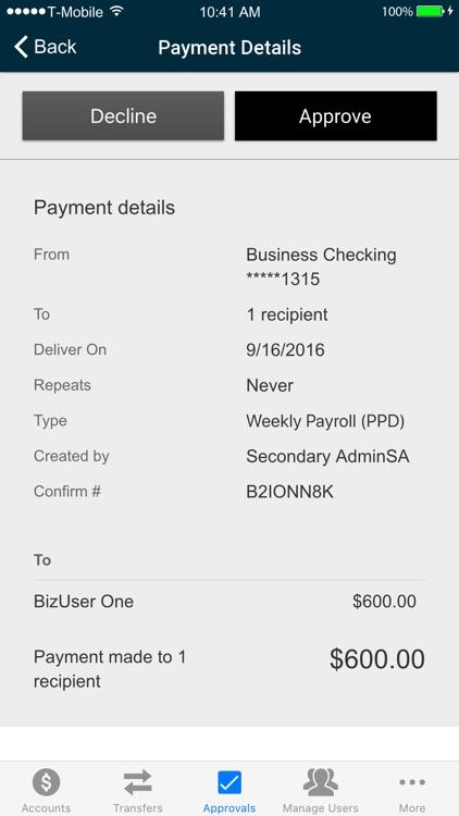 Patriot Bank Business Mobile screenshot-3