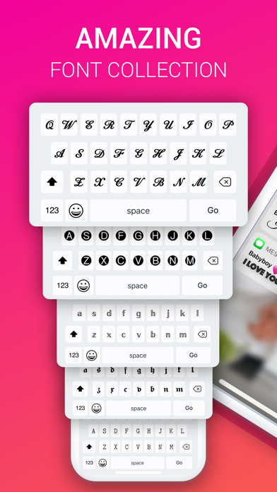 Fonts X - Keyboard for iPhoneのおすすめ画像1