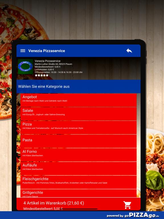 Venezia Pizzaservice Plauen screenshot 8