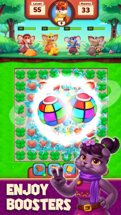 Cat Heroes - Match Puzzle Game screenshot-3