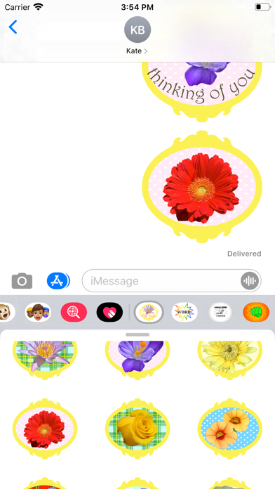 flowers for you stickers! Screenshot