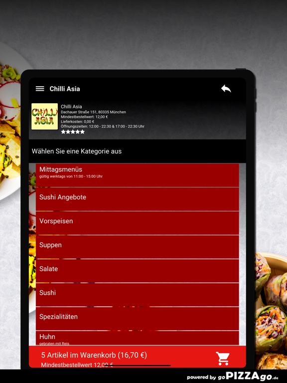 Chilli Asia München screenshot 8