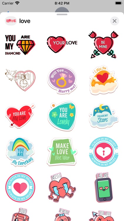 """""""Love"""" - Stickers for iMessage screenshot-4"""