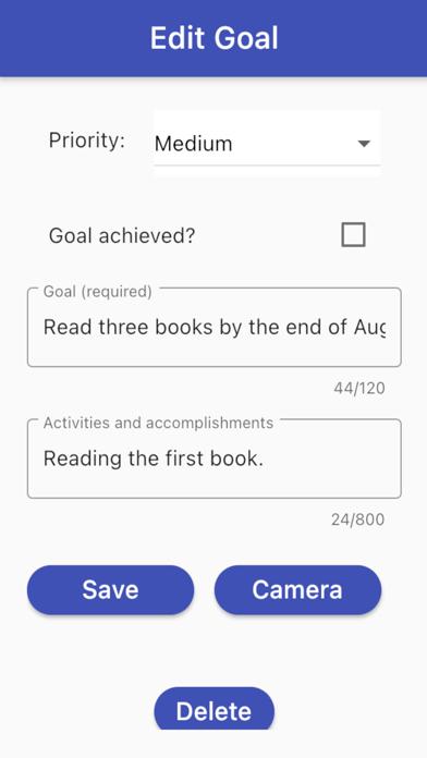 Goal Tracker+ Screenshot