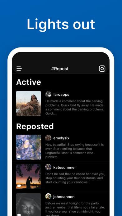 Repost for Instagram #Repost Screenshot