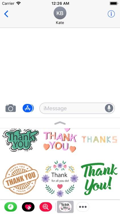Thank You Stickers 2018 screenshot-3