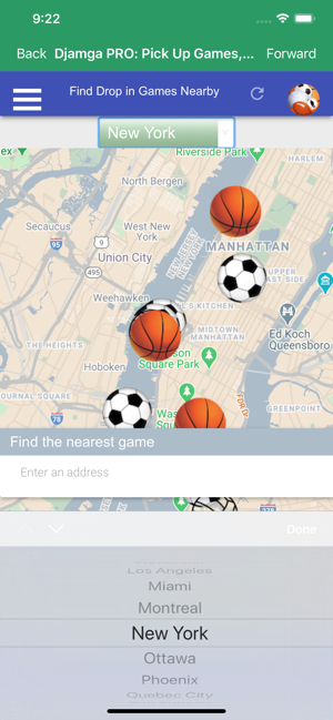 ‎Djamga PRO: Pick Up Games, BMR Screenshot