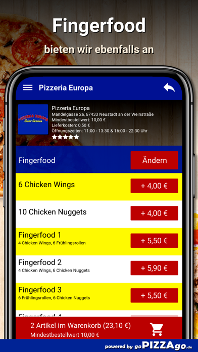 Pizzeria Europa Neustadt screenshot 6